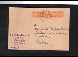 DDR. ZKD-Brief mit MeF. Mi.-Nr. 16 B