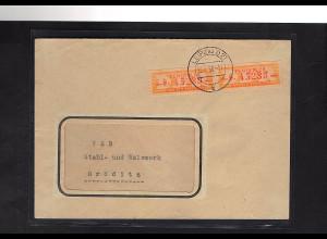 DDR. ZKD-Brief mit MeF. Mi.-Nr. 16 E