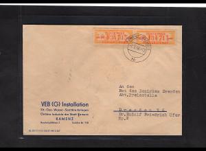 DDR. ZKD-Brief mit MeF. Mi.-Nr. 16 M