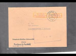 DDR. ZKD-Brief mit MeF. Mi.-Nr. 16 P