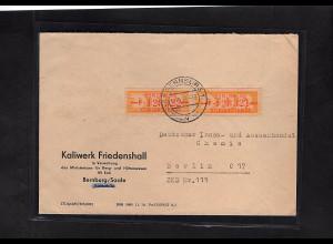 DDR. ZKD-Brief mit MeF. Mi.-Nr. 16 F