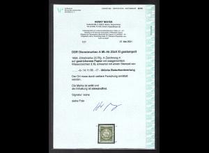 DDR. Dienstmaken A Mi.-Nr. 22zII XI gestempelt, FA.. Mayer
