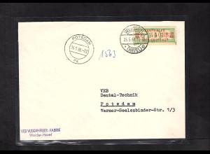 DDR. ZKD-Brief mit EF. Mi.-Nr. 31 I F
