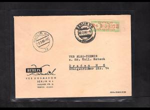 DDR. ZKD-Brief mit EF. Mi.-Nr. 31 I M