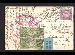 Zeppelin-Karte USA mit LZ 127 Round the woird, Sieger 29B