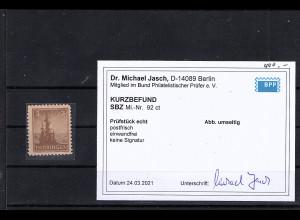 SBZ.,Thüringen Mi-Nr. 92 ct postfrisch, KB. Dr.JaschBPP: