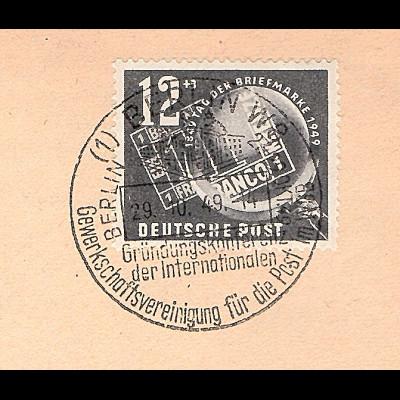 DDR. Mi.-Nr. 245 Brief mit SST vom 29.10.49 Vorerstag