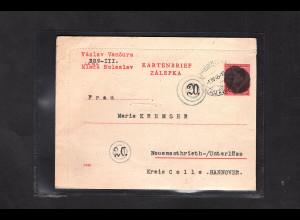 B&M., GS. Mi.-Nr. K4 II geschwärzt/Überroller gelaufen nach Celle