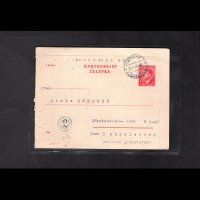B&M., GS. Mi.-Nr. K4 II gelaufen nach Fürstenwalde