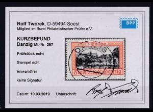 Danzig, Mi.-Nr. 297, gestempelt, KB. TworekBPP.
