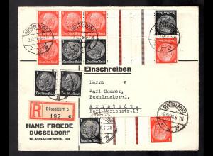 DR.,R-Fernbrief aus Königsberg mit 3 x KZ 24 u.a.