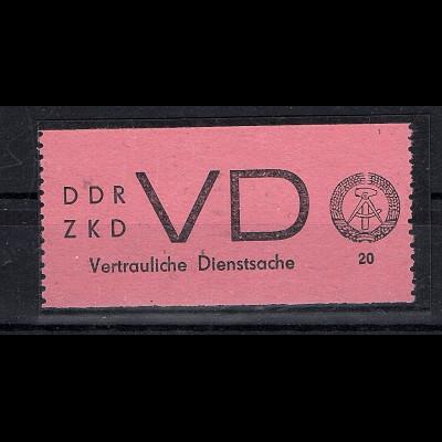DDR. ZKD Mi.-Nr. VD 2 postfrisch mit FA. Mayer.