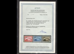 DR, Mi.-Nr.496-498, Chicagofahrt, postfrisch, FA, SchlegelBPP