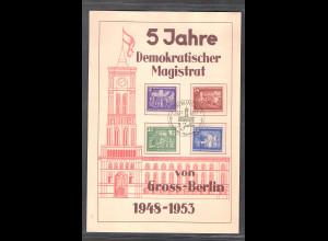 DDR - Gedenkblatt, 5 Jahre Demokratischer Magistrat, B2-1953 b