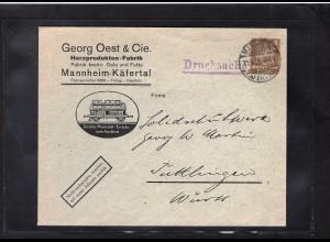 DR., Reklame-Brief Harzprodukten-Fabrik G. Oest & Cie Mannheim.