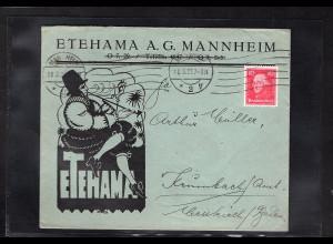 DR., Reklame-Brief Etehama A.G. Mannheim.