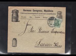 DR., Reklame-Brief Conservegefässen H. Gerngross, Mannheim.