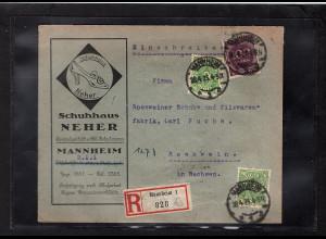 DR., Reklame-Brief Shuhhaus Neher, Mannheim.