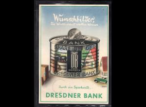 DR., Reklame-Karte Dresdner Bank Aschaffenburg.