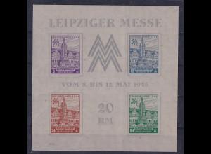 SBZ- West Sachsen, Mi.-Nr. Block 5 b Y, postfrisch, FA. Bodo StröhBPP