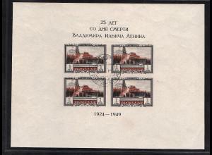 Sowjetunion Block 11 B gestempelt, FA. Bühler + Mikulski.
