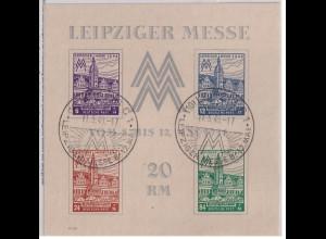 SBZ, West Sachsen., Mi.-Nr. Block 5 Ya Z, gestempelt, FA. Dr. JaschBPP.