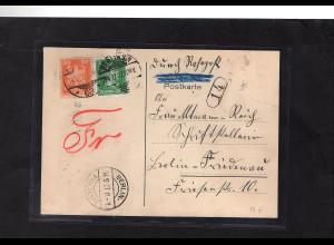 DR., Rohrpostkarte nach Berlin Friedenau 14.12.27