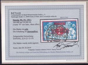 Danzig, Mi.-Nr. 150 I, gestempelt, Befund R. TworekBPP