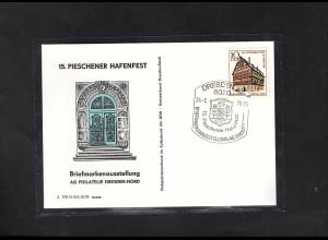 DDR - Gedenktkarte, 15. Pieschner Hafenfest.