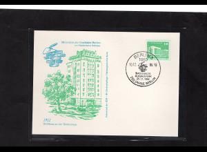 DDR - Gedenktkarte, Miniatur zur Geschichte Berlin, Hochhaus an der Weberwiese