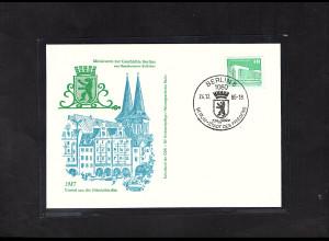 DDR - Gedenktkarte, Miniatur zur Geschichte Berlin, Viertel um die Nikolaikirche