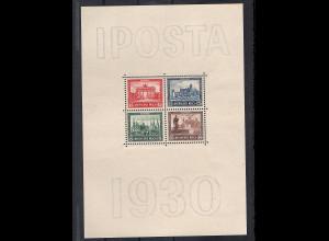 Dt. Reich Block 1 (IPOSTA) postfrisch, FA SchlegelBPP.