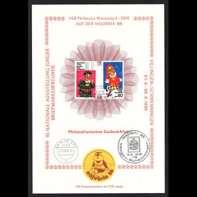 DDR - Gedenkblatt, Najubria 86, B33-1986