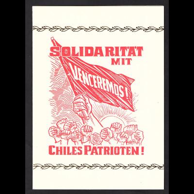 DDR - Gedenkblatt, Solidarität mit Chiles Patrioten, B1-1974