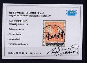Danzig, Mi.-Nr. 35, gestempelt, KB. TworekBPP.