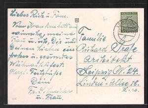 SBZ West-Sachsen Mi.-Nr. 116 x EF auf Ortskarte.