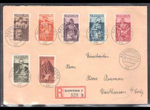 Saargebiet Satz-R-Brief Mi.-Nr. 190-205 mit AK-st.