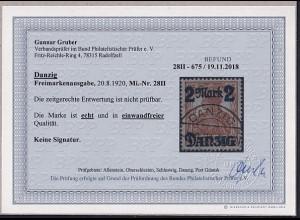 Danzig, Mi.-Nr. 28II, gestempelt, Befund, G.GruberBPP.