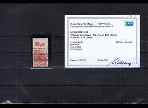 All. Besetzung, Mi, Nr. 46 I P OR dgz. Postfrisch, KB. SchlegelBPP.