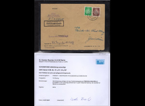 DDR.Dienst A, Orstbrief mit MiF. Mi.-Nr. 41 y AY + 34 yBY, Befund Dr.RuscherBPP.