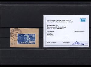 Bund, Mi.-Nr. 116 mit PF I, auf Briefstück, KB. SchlegelBPP: