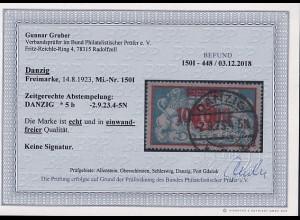 Danzig, Mi.-Nr. 150I, gestempelt, Befund, G.GruberBPP.