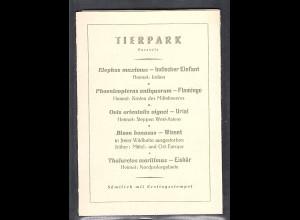 DDR -Gedenktblatt, Tierpark 1956