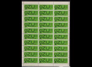 DDR.ZKD-Markent VD 4a + VD 4b komplette Bogen, postfrisch.