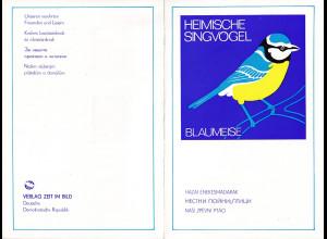 DDR - Gedenktblatt, Heimische Singvögel