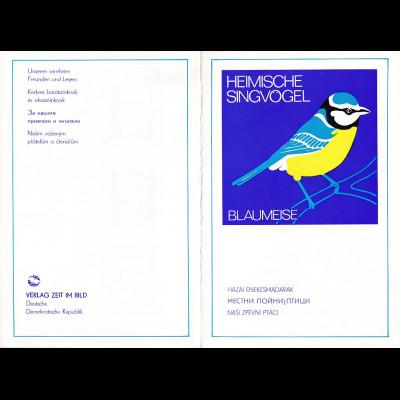 DDR - Gedenkblatt, Heimische Singvögel