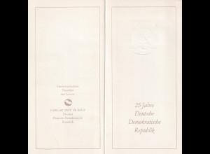 DDR -Gedenktblatt, 25 Jahre DDR