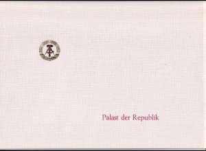 DDR -Gedenktblatt, Palast der Republik