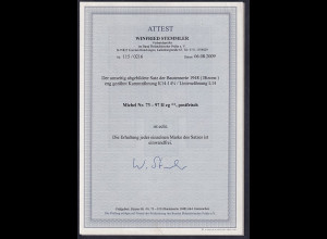 Alliierte Besetzung/Bizone Mi.-Nr. 73-97 II eg, postfrisch, FA, Stemmler BPP.