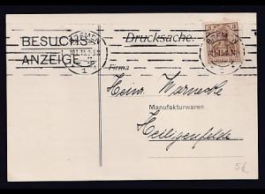DR. Reklame-Karte, Besuchs-Anzeige, Wilh. Georg Meyer, Bremen.